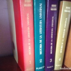 Libros de segunda mano: HISTORIA DE LA LITERATURA UNIVERSAL. RIQUER/ VALVERDE. CUATRO TOMOS. Lote 92903555