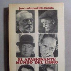 Libros de segunda mano: EL APASIONANTE MUNDO DEL LIBRO, MEMORIAS DE UN EDITOR / JOSÉ RUIZ-CASTILLO BASALA / 1972. Lote 95570455