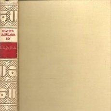 Libros de segunda mano: ARTÍCULOS DE COSTUMBRES. LARRA I. ESPASA CALPE. CLÁSICOS CASTELLANOS, Nº 45. 1965.. Lote 95830335