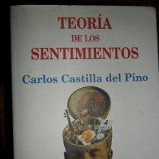 Libros de segunda mano: TEORÍA DE LOS SENTIMIENTOS, CARLOS CASTILLA DEL PINO, ED. TUSQUETS. Lote 98694883