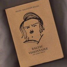 Libros de segunda mano - BALZAC VISIONNAIRE - ALBERT BEGUIN - EDITIONS ALBERT SKIRA, 1946 - 103474107