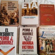 Libros de segunda mano: LOTE DE LIBROS (12) TENDENCIA ULTRADERECHISTA Y ANTI NACIONALISMO VASCO. PJ RAMÍREZ, PÍO MOA, ETC. Lote 103681179