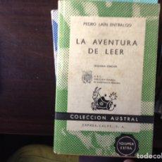 Libros de segunda mano: LA AVENTURA DE LEER. PEDRO LAÍN ENTRALGO. Lote 103814771