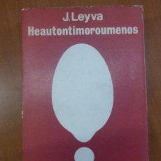 Libros de segunda mano: HEAUTONTIMORÚMENOS - TALLER EDICIONES JOSEFINA BETANCOR MADRID 1973 . Lote 103825743