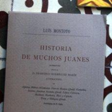 Libros de segunda mano: HISTORIA DE MUCHOS JUANES. L. MONTOTO.. Lote 103828467