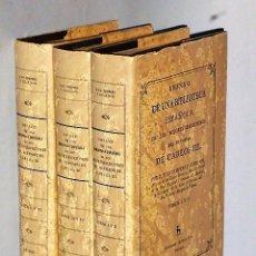 Libros de segunda mano: ENSAYO DE UNA BIBLIOTECA ESPAÑOLA DE LOS MEJORES ESCRITORES DEL REYNADO DE CARLOS III ( 3 TOMOS). Lote 107336911