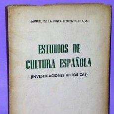 Libros de segunda mano: ESTUDIOS DE CULTURA ESPAÑOLA (INVESTIGACIONES HISTÓRICAS).. Lote 111463823