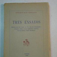 Libros de segunda mano: ENRIQUE RUIZ VERNACCI: TRES ENSAYOS (1948) (NUMERADO Y DEDICADO). Lote 111859319