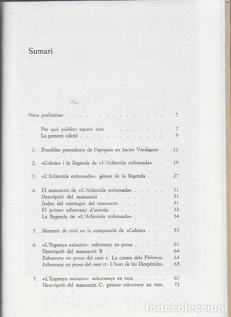 Libros de segunda mano: La genesi de l Atlantida / M. Condeminas. BCN : Universitat, 1978. 22x16cm. 102 p. + - Foto 2 - 112901987