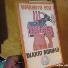 Libros de segunda mano: DIARIO MINIMO / UMBERTO ECO. BARCELONA : PENINSULA, 1973. 19 X 12 CM. 227 PAG.. Lote 115332991