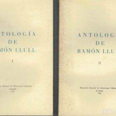 Libros de segunda mano: ANTOLOGÍA DE RAMÓN LLULL.. Lote 115875851