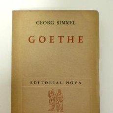 Libros de segunda mano - GOETHE.- GEORG SIMMEL (1949) - 116168315
