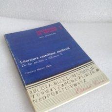 Libros de segunda mano: CUADERNOS DE ESTUDIO 1 LITERATURA CASTELLANA MEDIEVAL MARCOS MARIN . Lote 118435939