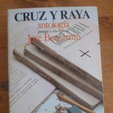 Libros de segunda mano: BERGAMÍN, JOSÉ. CRUZ Y RAYA. ANTOLOGIA. TURNER 1974 MADRID 566 PAGS. 21X13 CM. BUEN STADO. Lote 119355507
