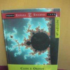 Libros de segunda mano: CAOS Y ORDEN. ANTONIO ESCOHOTADO. ESPASA, 2000. Lote 120532679