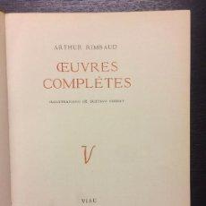 Libros de segunda mano: OEUVRES COMPLETES, ARTHUR RIMBAUD, EDICION LUJO. Lote 121163535