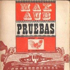 Libros de segunda mano: MAX AUB : PRUEBAS (CIENCIA NUEVA, 1967) . Lote 121262047