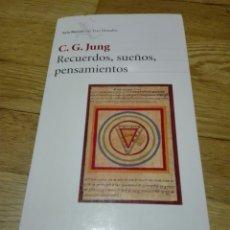 Libros de segunda mano: RECUERDOS, SUEÑOS, PENSAMIENTOS. JUNG, C.G.. TRAD. Mª ROSA BORRÁS. BARCELONA. SEIX BARRAL. 1981.. Lote 121936999