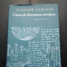 Libros de segunda mano: CURSO DE LITERATURA EUROPEA VLADIMIR NABOKOV. Lote 122987567
