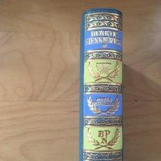 Libros de segunda mano: OBRAS ESCOGIDAS DE HENRYK SIENKIEWICZ TOMO I 2ª 1964 AGUILAR PREMIO NOBEL . Lote 124247703