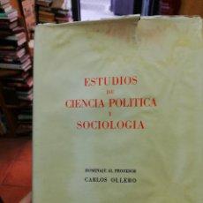 Libros de segunda mano - . ESTUDIOS DE CIENCIA POLITICA Y SOCIOLOGIA. HOMENAJE AL PROFESOR CARLOS OLLERO - 125083347