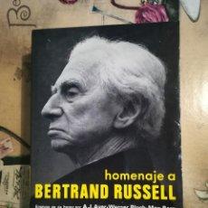 Libros de segunda mano: HOMENAJE A BERTRAND RUSSELL - V.V.A.A.. Lote 125085343