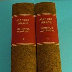 Libros de segunda mano - MANUEL FRAGA. HOMENAJE ACADÉMICO. FUNDACIÓN CÁNOVAS DEL CASTILLO - 127275243