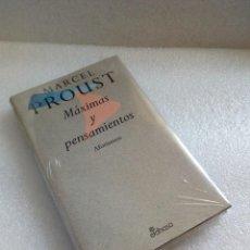 Libros de segunda mano: MARCEL PROUST MAXIMAS Y AFORISMOS EDHASA NUEVO A ESTRENAR DE STOCK DE LIBRERIA. Lote 128248743