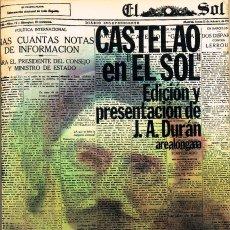 Libros de segunda mano: CASTELAO EN EL SOL. EDICIÓN Y PRESENTACIÓN DE J.A. DURAN (VER IMAGEN DEL INDICE Y DE ILUSTRACIONES). Lote 128348487