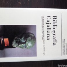 Libros de segunda mano: BIBLIOGRAFÍA CAJALIANA. EDICIONES DE LOS ESCRITOS DE RAMÓN Y CAJAL. VVAA. ALBATROS. VALENCIA, 2000. Lote 128622015