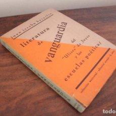 Libros de segunda mano: BAJARLÍA, JUÁN JACOBO. LITERATURA DE VANGUARDIA. 1946. Lote 129990079