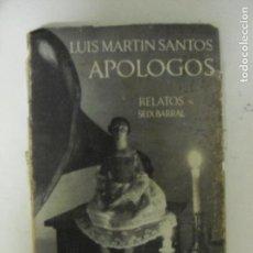Libros de segunda mano: APOLOGOS . MARTIN SANTOS, LUIS PUBLICADO POR 1970. ED. ED. SEIX BARRAL. (1970) 154PP. Lote 131221912