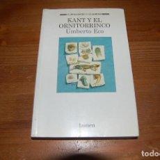 Libros de segunda mano: KANT Y EL ORNITORRINCO. UMBERTO ECO. EDITORIAL LUMEN. Lote 131406394