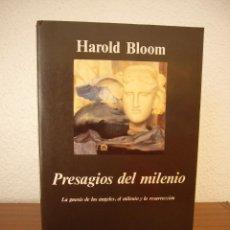 Libros de segunda mano: HAROLD BLOOM: PRESAGIOS DEL MILENIO (ANAGRAMA, 1997). Lote 140604966
