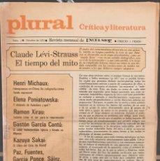 Libros de segunda mano: OCTAVIO PAZ. REVISTA PLURAL. N. 1. OCTUBRE 1971. Lote 133354422