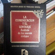 Libros de segunda mano: LA COMUNICACION Y EL LENGUAJE, MARIANL HERNADEZ. ED. QUORUM. Lote 133562322