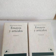 Libros de segunda mano: RAFAEL SÁNCHEZ FERLOSIO. ENSAYOS Y ARTÍCULOS. 2 TOMOS. EDTIORIAL DESTINO SIN LEER. Lote 133796990
