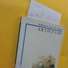 Libros de segunda mano - Artículos. DE LARRA, Mariano José. Col. Biblioteca Didáctica. Ed. Anaya. Madrid 1997 - 134000510