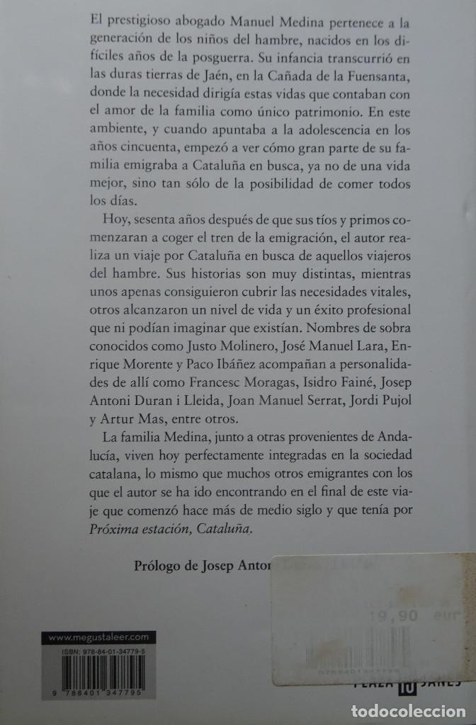 Libros de segunda mano: PROXIMA ESTACION BARCELONA - MANUEL MEDINA - PLAZA & JANES - Foto 2 - 135951626