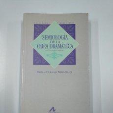Libros de segunda mano: SEMIOLOGÍA DE LA OBRA DRAMÁTICA. BOBES NAVES, MARÍA DEL CARMEN. 2ª EDICIÓN. TDK355. Lote 140385182