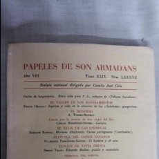 Libros de segunda mano: PAPELES DE SON ARMADANS AÑO VIII TOMO XXIX NÚMERO LXXXVII. Lote 140653814