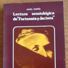 Libros de segunda mano: LECTURA SEMIOLOGICA DE FORTUNATA Y JACINTA. ÁNGEL TARRIO. Lote 141624330