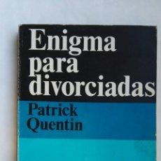 Libros de segunda mano: ENIGMA PARA DIVORCIADAS. Lote 142109413