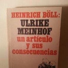 Libros de segunda mano: HEINRICH BÖLL: GARANTÍA PARA ULRIKE MEINHOF. FRANK GRÜTZBACH (SELECC.). Lote 144125426