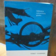 Libros de segunda mano: INTRODUCCION AL LATIN VULGAR. VEIKKO VAANEN. BIBLIOTECA UNIVERSAL GREDOS. 1995.. Lote 145062182