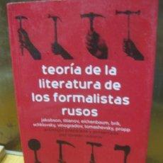 Libros de segunda mano: TEORIA DE LA LITERATURA DE LOS FORMALISTAS RUSOS. TZVETAN TODOROV. SIGLO VEINTIUNO, 2004. Lote 145120850