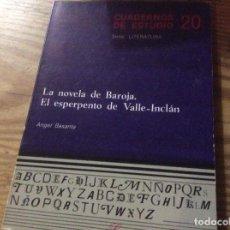 Libros de segunda mano: A. BASANTA, LA NOVELA DE BAROJA. EL ESPERPENTO DE VALLE-INCLÁN. CINCEL / CUADERNOS DE ESTUDIO Nº 20. Lote 146175966