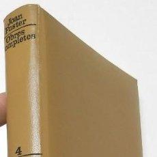 Libros de segunda mano: ASSAIGS, 1. OBRES COMPLETES IV - JOAN FUSTER (EDICIONS 62, 1975, 1ª EDICIÓN). Lote 148434546