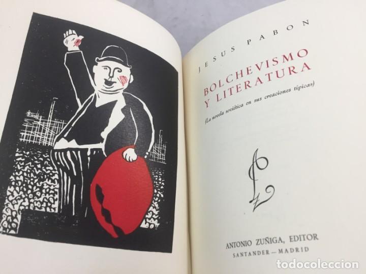 Libros de segunda mano: Jesús Pabón Bolchevismo y Literatura Firmado por el autor Papel Hilo 1ª edición grabados 1949 - Foto 3 - 149750678