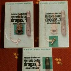 Libros de segunda mano: HISTORIA GENERAL DE LAS DROGAS/ ANTONIO ESCOHOTADO. 3ª EDICION REVISADA . ALIANZA EDITORIAL. 1992. Lote 150668608